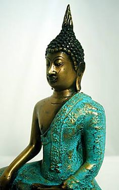 A Sukhothai-style Thai Buddha image, masterfully cast in bronze and hand painted. This magnificent image is very detailed, and the hand painting is beautiful. Buddhism, Warriors, 18th, Hand Painted, Frame, Diy, Beautiful, Style, Plastering
