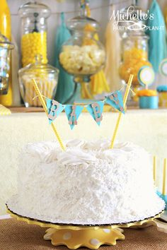 Michelle's Party Plan-It: A Yellow & Aqua Baby Shower