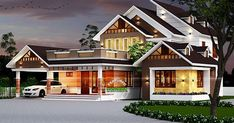 Kerala home design and floor plans: Modern house designs Unique House Plans, Country House Plans, Modern House Plans, Modern House Design, Modern Houses, Modern Courtyard, Courtyard House Plans, Beaux Arts Architecture, Amazing Architecture