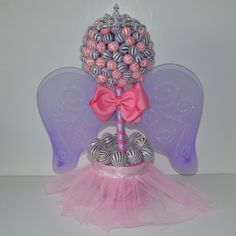 Small Lollipop Fairy Princess Topiary by EdibleWeddings on Etsy, $54.99