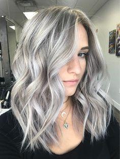 Silver icy white platinum blonde hair