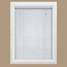 White 1 in. Blackout Vinyl Mini Blind - 23 in. W x 48 in. L (Actual Size is 22.5 in. W x 48 in. L)