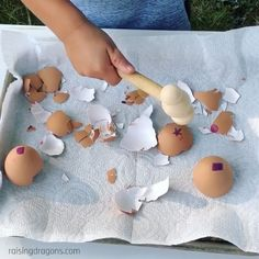 Eggshell Shape Smash Toddler Activity * ages ⋆ Raising Dragons A fun way to repurpose egg shells to learn shapes, colors, letters or numbers! The post Eggshell Shape Smash Toddler Activity * ages ⋆ Raising Dragons appeared first on Pink Unicorn. Fun Activities For Toddlers, Montessori Activities, Preschool Learning, Infant Activities, Teaching Kids, Outdoor Toddler Activities, Preschool Eggs, Activities For 2 Year Olds, Montessori Materials