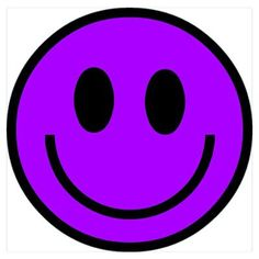 Classic Purple Smiley Face by - CafePress Classic Purple Smiley Face Poster<br> Shop Classic Purple Smiley Face designed by Lots of different size and color combinations to choose from. Purple Love, Purple Lilac, All Things Purple, Shades Of Purple, Purple And Black, Purple Stuff, Purple Swag, Zebra Face, My Favorite Color