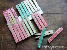 Decoupauged Clothespins