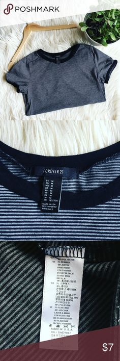 Basic F21 Striped Tee Black and white striped forever 21 tee. 49% polyester, 3% spandex, 48% rayon. Classic tee and perfect item to bundle! Forever 21 Tops Tees - Short Sleeve