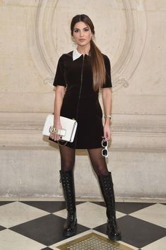 Negin Mirsalehi attends the Christian Dior show as part of the Paris Fashion Week Womenswear Fall/Winter 2017/2018 at Musee Rodin on March 3, 2017 in Paris, France.