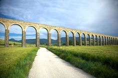 Roman aqueduct near Pamplona, Spain