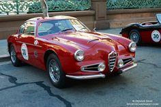 1956 Alfa Romeo 1900 Super Sprint Zagato driven by Bruce and Cathy Milner.