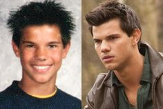Celebrities, Then And Now – 40 Pics. In this photo is Taylor Lautner.