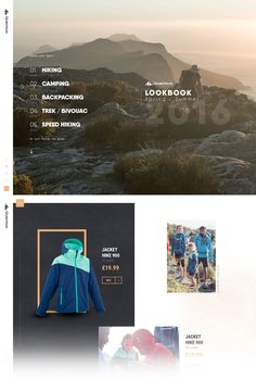 Quechua Lookbook Spring Summer 2016 (More web design inspiration at topdesigninspiration.com) #design #web #webdesign #inspiration #sitedesign #responsive