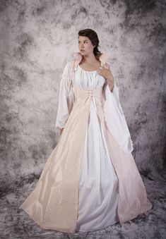Bodice Dress Gown Renaissance Medieval Costume by SpeedyCostumes, $240.00