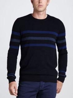 100% Cashmere Crew Neck Ribbing Sweater