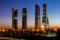 Cuatro torres en Madrid by Eduardo Menendez, via 500px