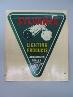 Advertsing LIGHTING Sylvania Decal Sticker by FindingMaineVintage, $49.60