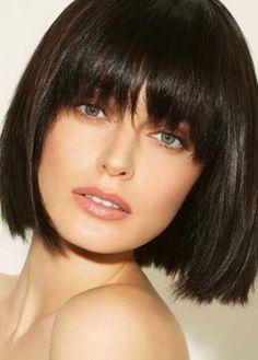 Kısa Küt Kahküllü Düz Saç Modelleri 2015