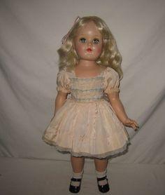 "1950's Ideal 21""  HP Platinum Blonde Toni Doll in Tagged Dress P-93   ML157 #Ideal #Dolls"