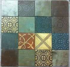 Antique inlay tiles www.patakitiles.com