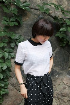Cute Black Collar Blouse :)  Styling and Photography by THE WHITEPEPPER