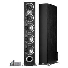 Polk Audio - An excellent floor standing speaker option for your home. Hifi Speakers, Monitor Speakers, Bookshelf Speakers, Floor Standing Speakers, Audiophile, Live Life, Theater, Headphones, Indoor
