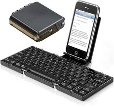 Cool folding Bluetooth Keyboard. Its suppose to work with the iPad too.