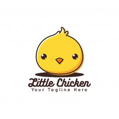 Cute Little Chicken Logo Vector Premium Vector