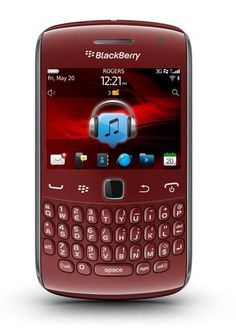 Ruby Red BlackBerry Curve 9360 Blackberry Curve, Cool Tech, Ruby Red, Technology, Electronics, Phone, Design, Products, Tech