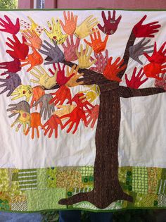 Tree Quilt for Art Auction by littlbluecottage {littlebluecottage.wordpress.com}, via Flickr