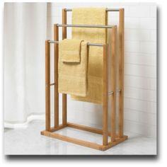 BrylaneHome Bamboo 3-Tier Towel Rack