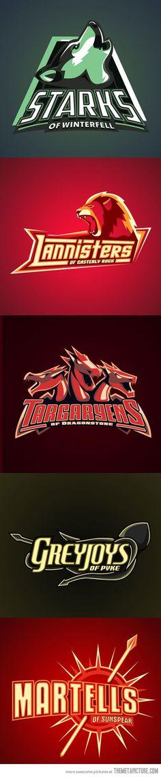 Game of Thrones Sports Logos