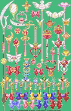 Too Many Sailor Moon Pixels Sailor Moon Girls, Sailor Pluto, Sailor Moon Art, Sailor Moon Crystal, Sailor Moon Weapons, Sailor Moon Wands, Laxus Fairy Tail, Sailer Moon, Catty Noir