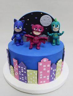 tortas de heroes en pijamas4