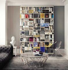 COLECCIONISTA BOOKCASE  By Boca do Lobo | www.bocadolobo.com #luxuryfurniture #interiordesign #inspirations #homedecorideas #exclusivedesign #contemporarydesign #bookcase
