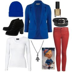 winter outfit idea hermey