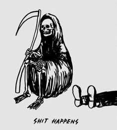 Find images and videos about funny, lol and drawing on We Heart It - the app to get lost in what you love. Digital Foto, Reaper Tattoo, Skeleton Art, Arte Obscura, Art Brut, Grim Reaper, Death Reaper, Illustrations, Skull Art