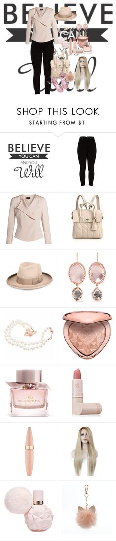 """bez naslova"" by amy-888 ❤ liked on Polyvore featuring WALL, Akris, Mulberry, STELLA McCARTNEY, Larkspur & Hawk, Too Faced Cosmetics, Burberry, Lipstick Queen, Maybelline and LC Lauren Conrad"