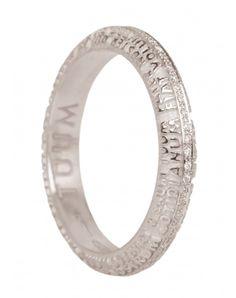 Anello #Tumm Fede Aeterna Oro Bianco 18 KT e Diamanti Girodito FESAL0700B #ororagioiellerie