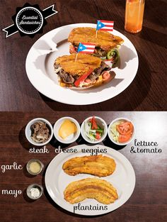 What the jibarito, a Puerto Rican sandwich, lacks in bread, it makes up for in taste. And fried plantains. Puerto Rican Dishes, Puerto Rican Cuisine, Puerto Rican Recipes, Cuban Recipes, Boricua Recipes, Comida Boricua, Plantain Recipes, Crockpot, Puerto Rico Food