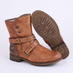 Mustang 1139-607-307 Womens Biker Boots in Cognac