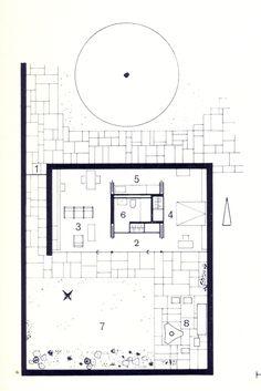 7 Modern House Plans Samples – Modern Home Detail Architecture, Architecture Courtyard, Architecture Drawings, Architecture Plan, Residential Architecture, Design Hotel, House Design, Small House Plans, House Floor Plans