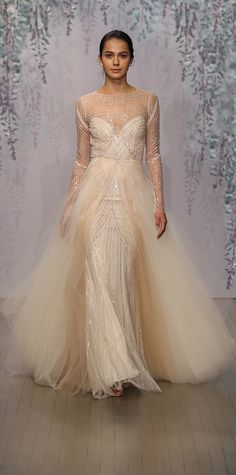 Our Favorite Fall 2016 Wedding Dresses from Bridal Fashion Week | InStyle.com Monique Lhuillier
