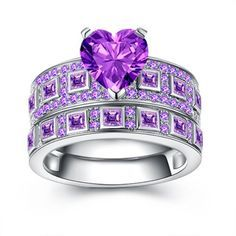 Beautiful Rings for your jewelry collection Sterling Silver Necklaces, Sterling Silver Jewelry, Gold Jewelry, Jewelery, Women Jewelry, Silver Ring, Silver Earrings, Purple Jewelry, Jewelry Shop