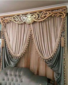 36 Gorgeous Romantic Master Bedroom Ideas - Page 15 of 36 - Ciara Decor Vintage Curtains, Elegant Curtains, Curtain Decor, Curtain Designs For Bedroom, Luxury Curtains, Victorian Curtains, Home Curtains, Curtain Designs, Classic Curtains