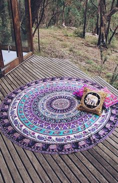 shop Indian Mandala Tapestries Round Beach Throw Wall Hanging Yoga Mat Boho sofa throw on sale. we offer round mandala bedspread or soft sofa blanket throw. Yoga Studio Design, Boho Tapestry, Mandala Tapestry, Moon Mandala, Jaipur, Boho Lifestyle, Circle Beach Towel, Mandala Throw, Indian Mandala