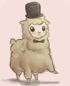 Kawaii alpaca, credits to whoever drew this