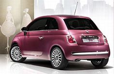 In celebration of the Barbie Doll's 50th Anniversary. FIAT created this very special FIAT 500 Barbie Edition.