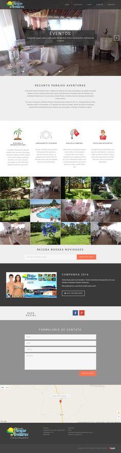 Site Recanto Paraiso Aventuras - Rio Negrinho