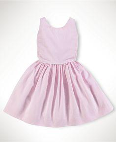 Ralph Lauren Kids Dress, Little Girls Bow Back Dress - Kids - Macy's