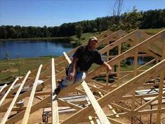 Easiest Way How to Build a Pole Barn Step by Step - Home Decor Help How to build a pole barn step by step is not necessarily difficult, it will take some proper planning before the project gets underway to ensure the . Diy Pole Barn, Building A Pole Barn, Pole Barn Garage, Pole Barn House Plans, Pole Barn Homes, Building A Shed, Pole Barns, Building Plans, Pole Barn Shop