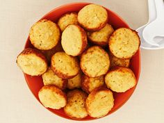 The Deen Brothers' Baked Hush Puppies : The Deen brothers' hush puppies have all of the down-home flavor of this Southern favorite, but without the extra fat from deep-frying.